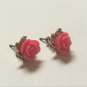 Jewelry - FREE with bundle Pink Rose Earrings